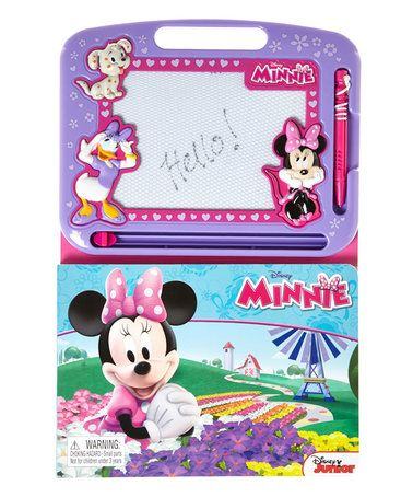 Look what I found on #zulily! Minnie Mouse Magnetic Drawing Board Book #zulilyfinds