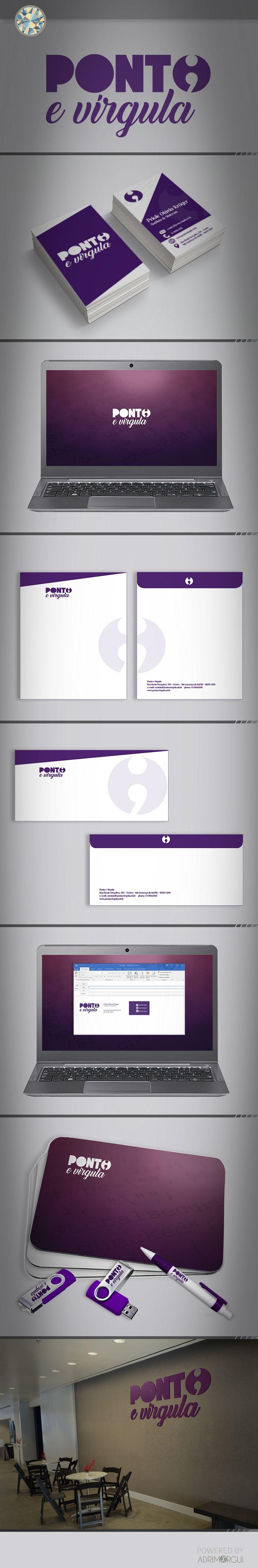 Projeto de Branding para Ponto e Vírgula.