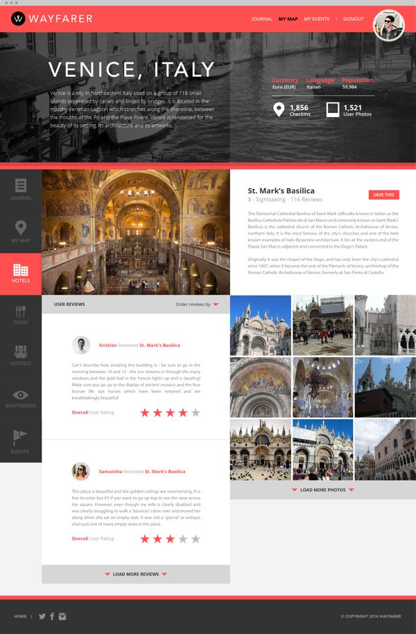 Wayfarer: Travel & Discovery on Web Design Served