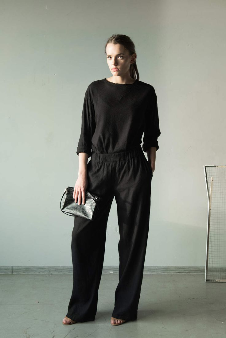 Best 25 Black Linen Pants Ideas That You Will Like On