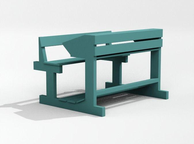 Bange (Albanian school desk) - 1:100 by vanca - bange shkolle, klase