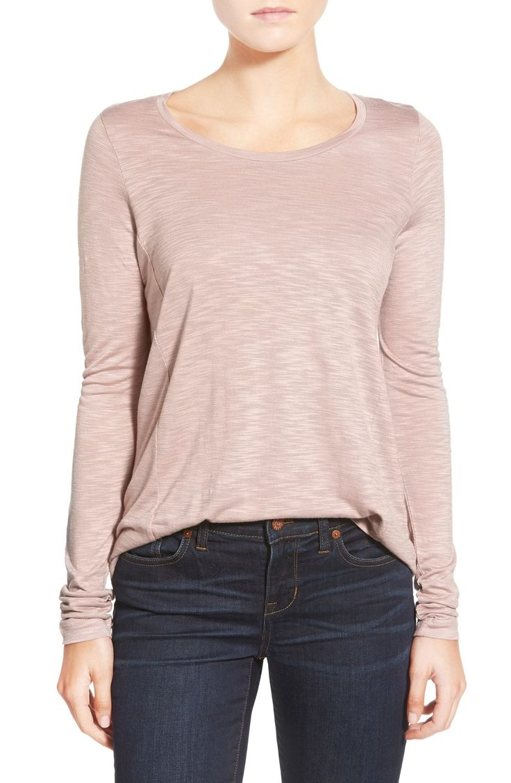 Crushing on this pale pink tee that is comfy and easy to wear everyday.