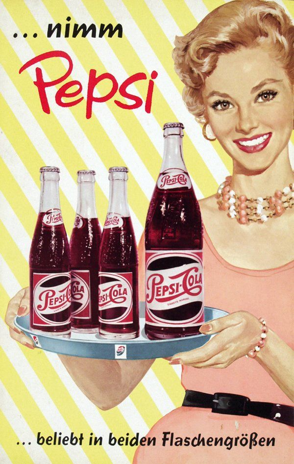 Nimm Pepsi, Poster by Anonymous - Pepsi-Cola, 1950