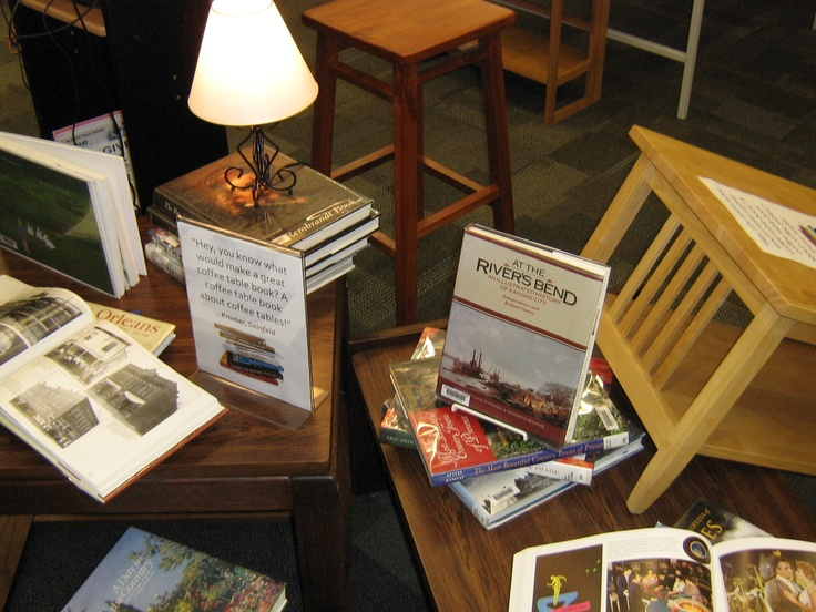Coffee table book display.