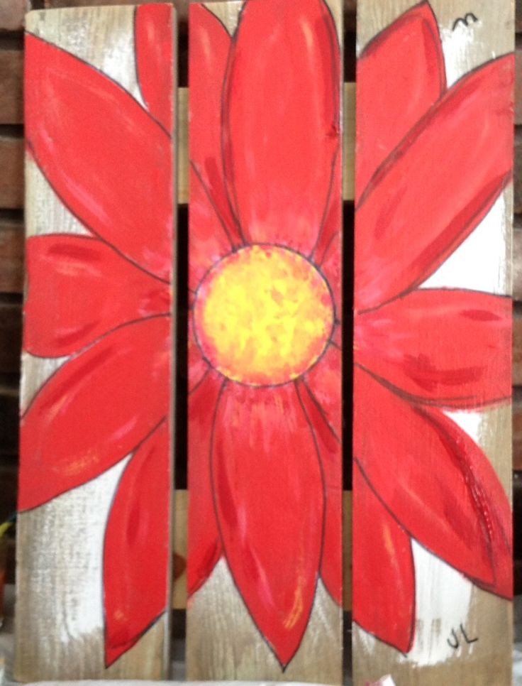 Painted on wood fence panel. Can hang on house or fence for outdoor decoration..