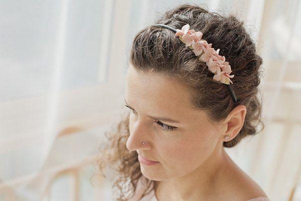 Холодный фарфор цветы украшения серьги фиолетовые аксессуары Cold porcelain accessories flowers Porcelana fria