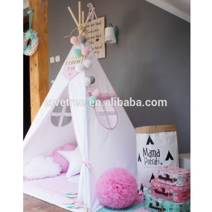 Teepee Indian Tents Children Kids Cloth Teepee / Powwow Lodge Round Door Teepee / Kids Play Toys Outdoor Indoor Tent Teepee