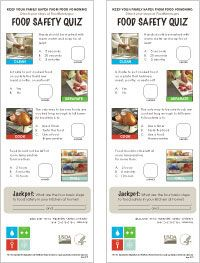 Food Safety Information - Quizzes, Brochures, Activities, Posters, Bookmarks, & Handouts