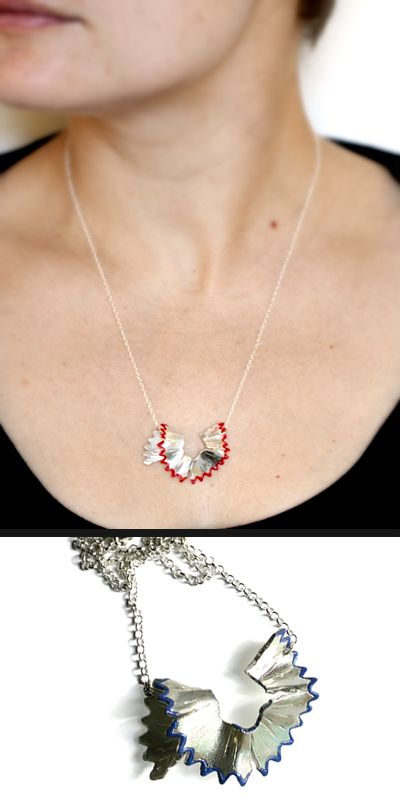 Made from sterling silver, the pencil shaving necklace by Victoria Mason Jewellery is gorgeousness.