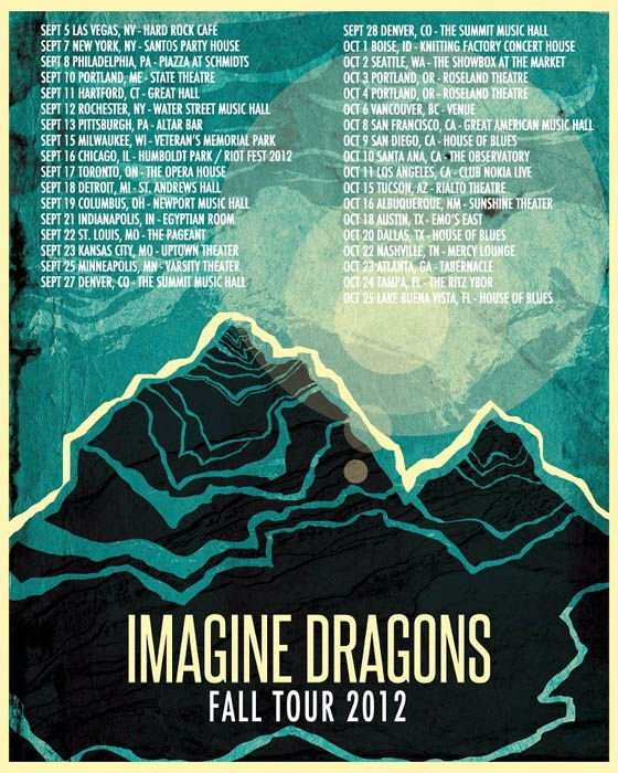 Imagine Dragons Tour 2012