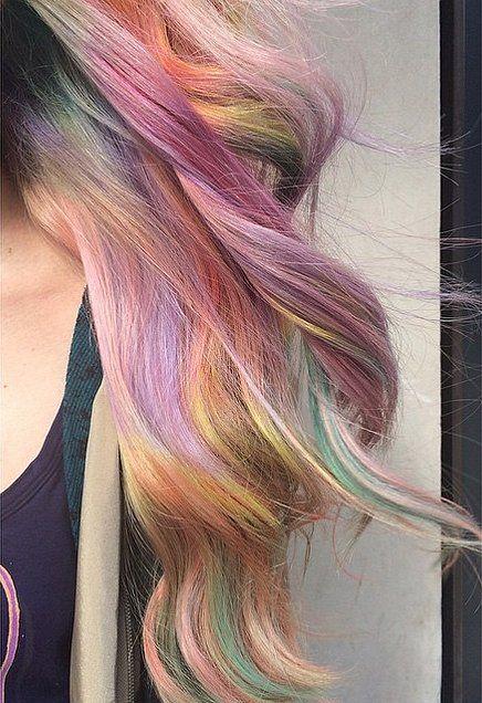 Fabulous Fade // Sand Art Rainbow Hair Color Ideas