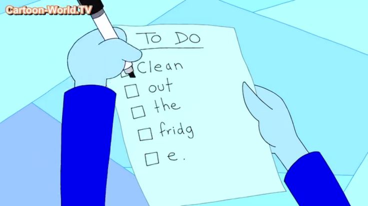 When you have to do chores