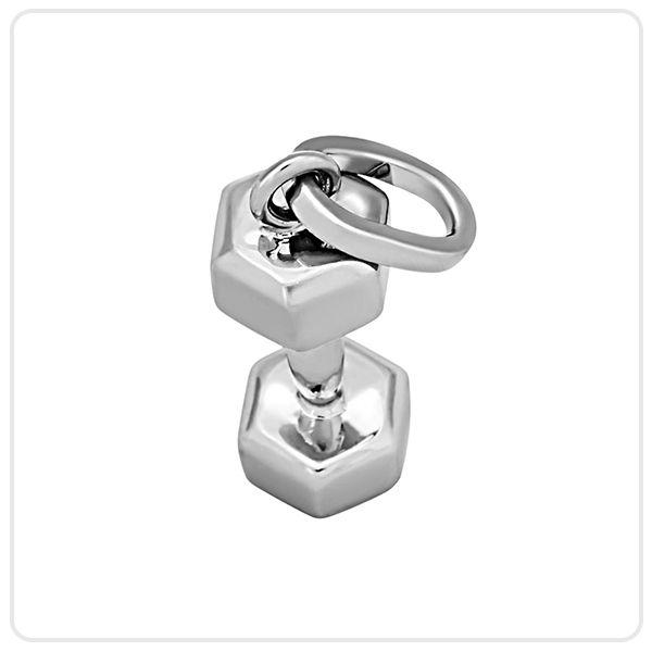 Кулон гантель : Серебряная подвеска в виде гантели - Sport RX Jewelry - Спортивные ювелирные украшения
