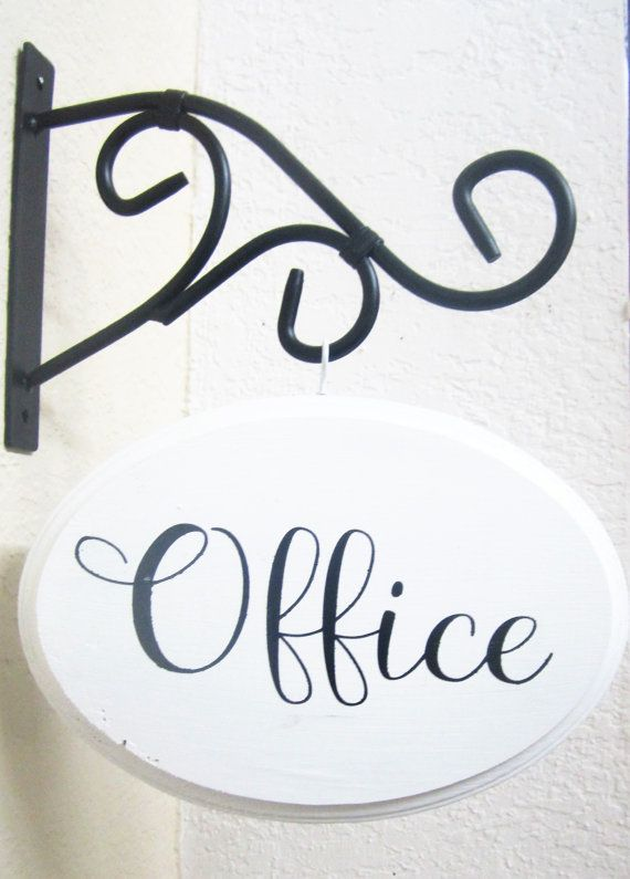 Office sign, farmhouse office decor, office sign with bracket, shabby chic, farmhouse sign, Christmas gift, gift for mom, gift for her