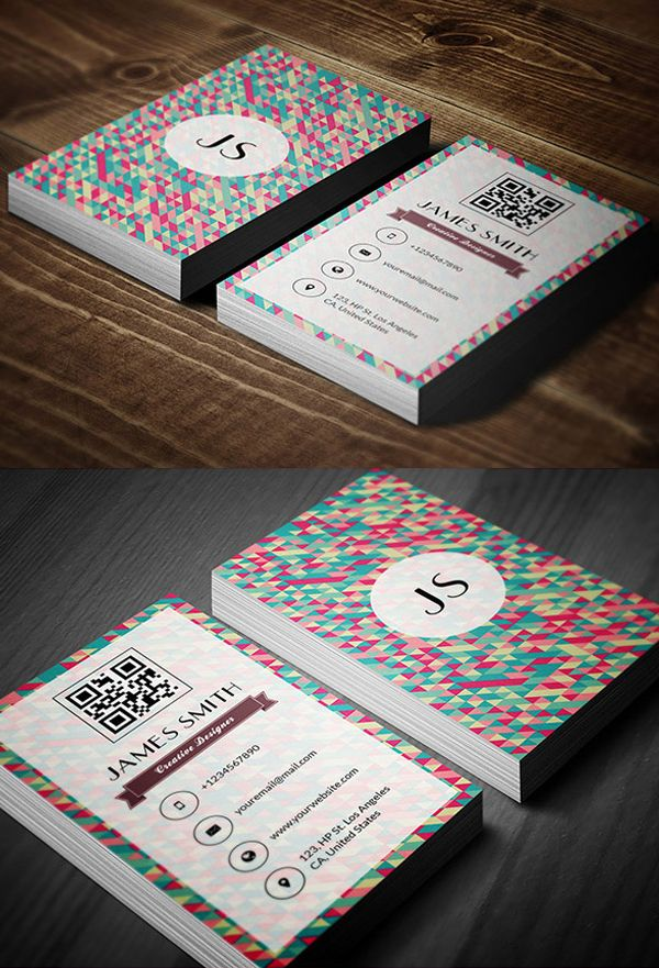 Retro Style Business Card Design
