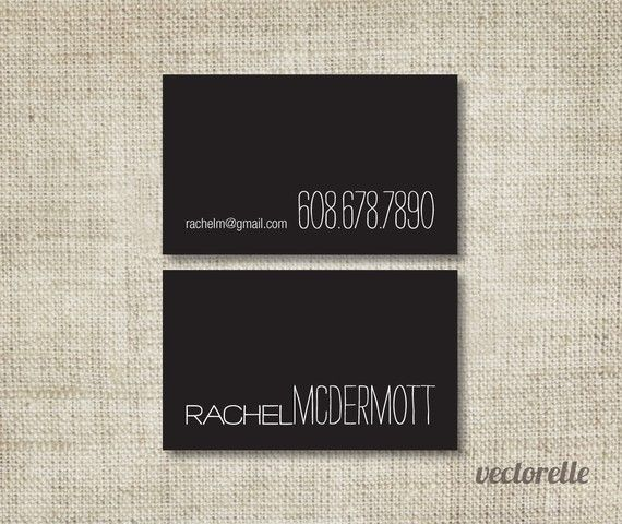 Personalized Business Cards SIMPLE 1 Box by vectorelle on Etsy, $30.00