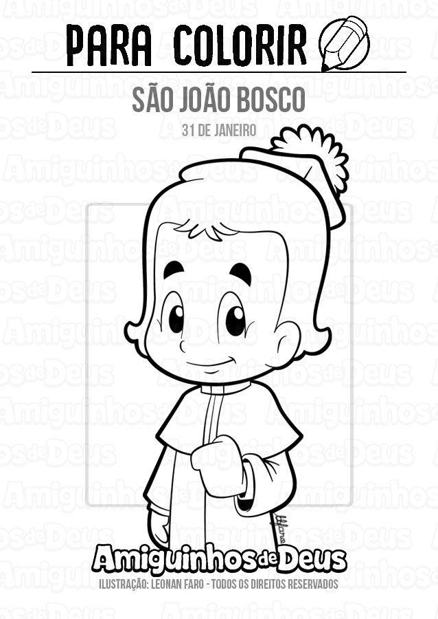 Sao Joao Bosco Desenho Para Colorir Sao Joao Bosco Joao Bosco
