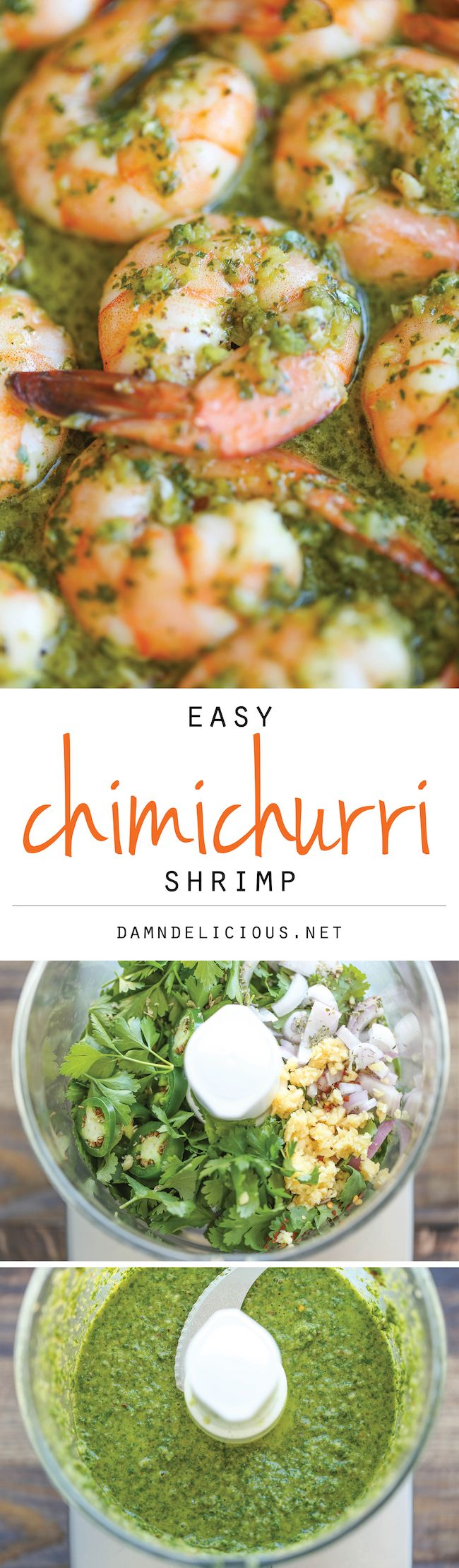 Easy Chimichurri Shrimp - The easiest, most simple 20-minute dish you will ever make. And this can be served either as an appetizer or light dinner! --------> http://tipsalud.com