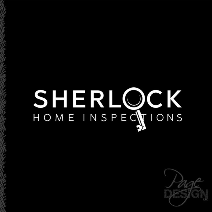 Logo design for Sherlock Home Inspections, Tauranga, NZ #Logo #logodesign #sherlockinspired #homeinspections