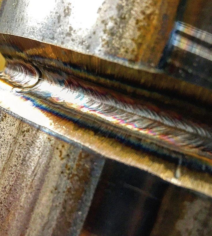 TIG root on 6G 6 Schedule 80 Pipe  Finally fucking done school #welding #tigwelding #metalwork #fuckfightweldpipe