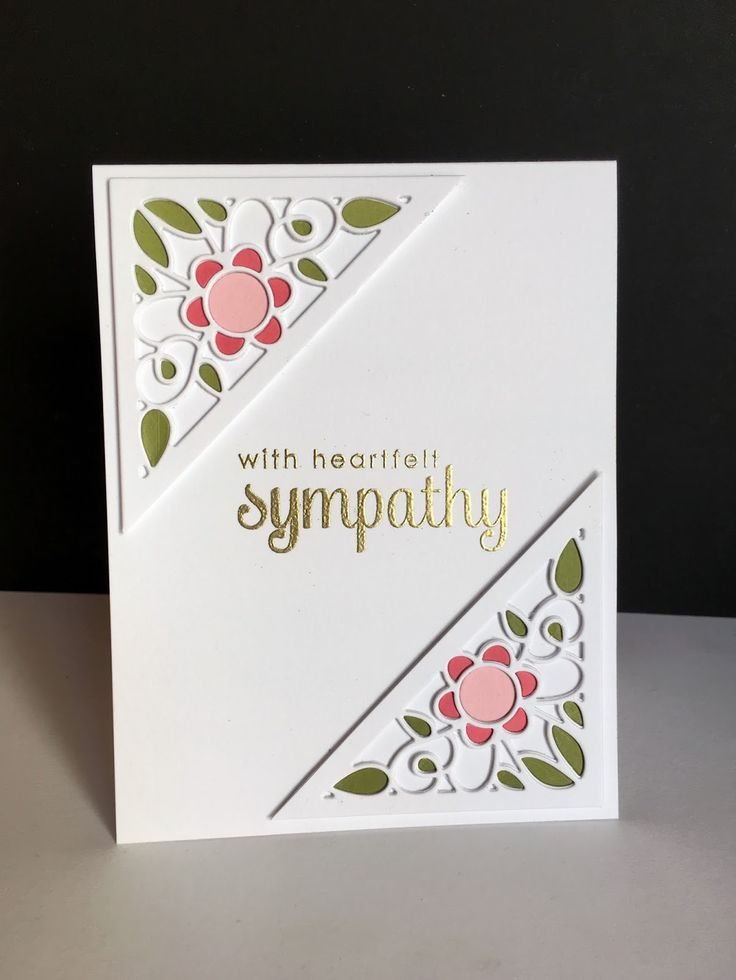 Sympathy cards are so tough...I've read it's best to make them when you don't need them, but it's hard for me to make them even when I do...