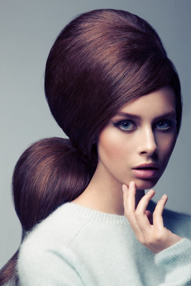 Such great heights. #Retro #Hair #Design #Editorial #Beehive #Pony #Hybrid #Gorgeous #Makeup