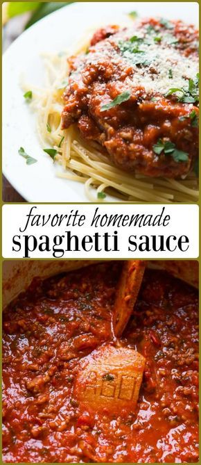 Favorite Homemade Spaghetti Sauce via @ohsweetbasil