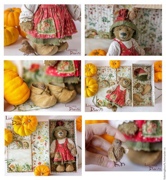 Teddy Bears handmade. SALE! Teddy Bear Helga and her little friend Svein OOAK FREE SHIPPING. Aleksandra Kulikova (listeningdwarfs). My Livemaster. #teddy #bear #teddybear #handmade #artdoll #ooakteddy #toy #bunny #teddybunny #rabbit #teddyrabbit #motherday