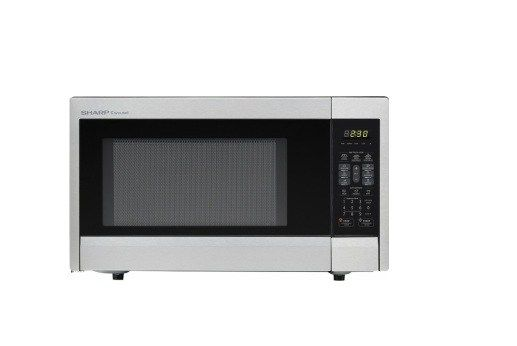 Sharp 1.1 Cu. Ft. Mid-Size Microwave Stainless-Steel for $69.99 at Best Buy