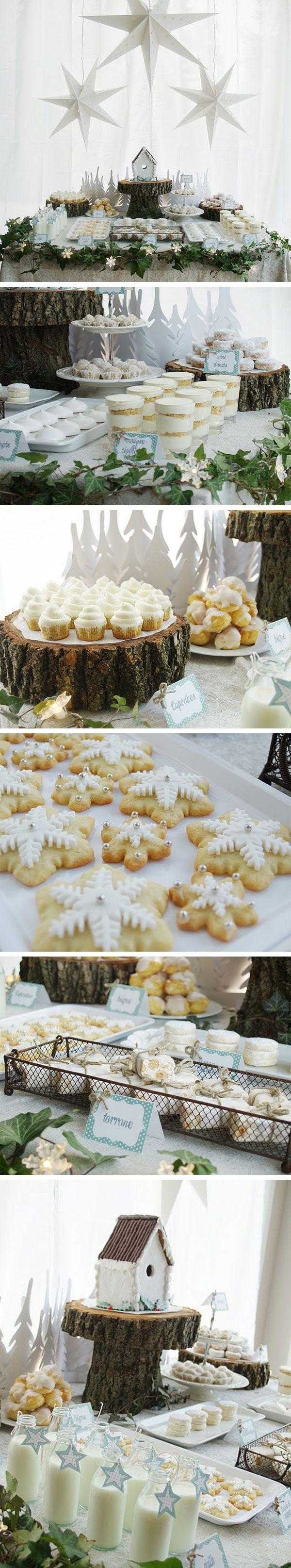 Winter Wonderland Holiday Dessert Table