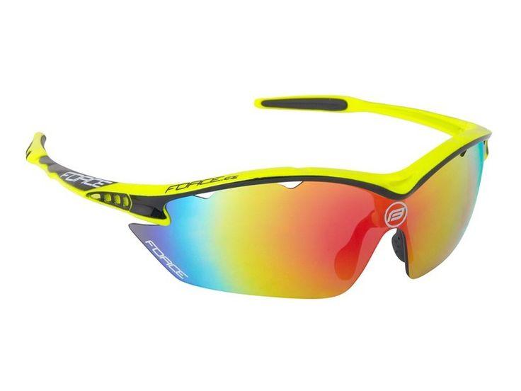 FORCE RON okulary z wymiennymi szkłami fluo 91013 - MikeSport.pl