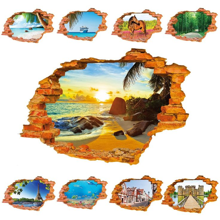 Tree Lined Trail 3D Sticker Wall Sticker 60*90CM/23.62''*35.43in Quarto Poster Bedroom House Mural Wall Decals Home Decor