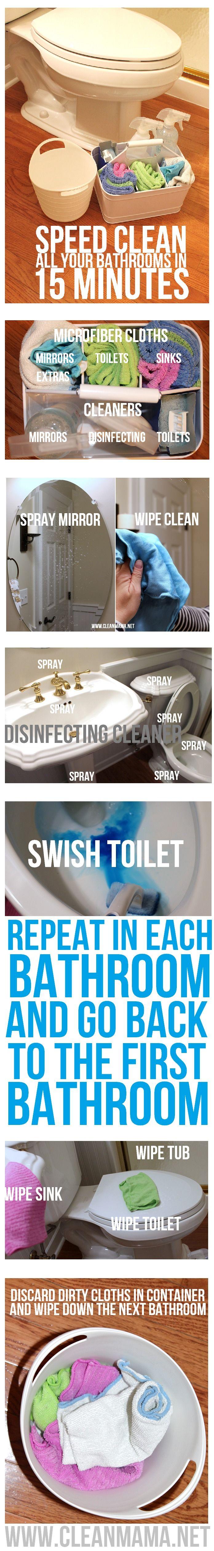 Paso a paso Limpiar Todas sus cuartos de baño en 15 minutos a través de Clean Mama