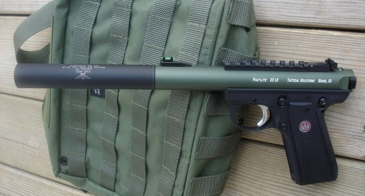 Ruger 22/45 with Tactical Solutions  Pac-Lite upper & Suppressor