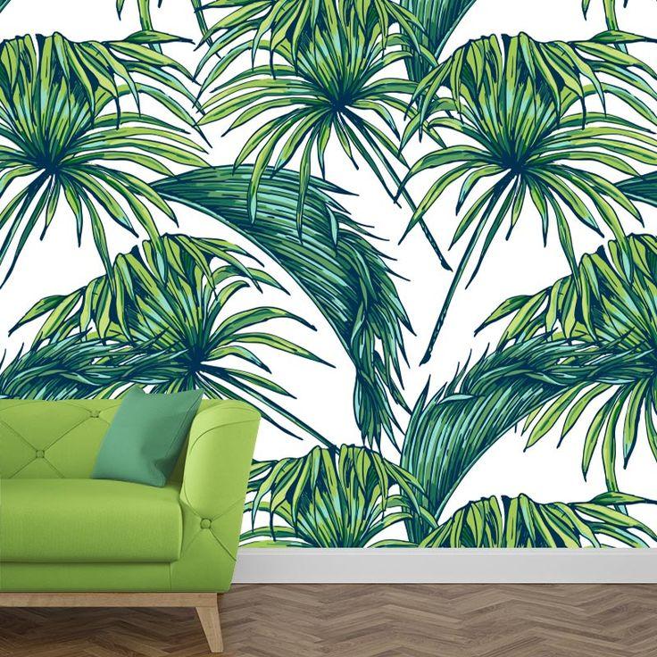 Fotobehang Bladeren | Een rustgevende behang in jouw kamer? Het fotobehang bladeren past zeker bij de sfeer die je zoekt. Het fotobehang is op maat en in verschillende typen behang verkrijgbaar. Zelfs zelfklevend! #fotobehang #behang #behangen #interieur #styling #diy #vliesbehang #zelfklevend #bladeren #groen #palmbladeren #groene #blad #natuur #natuurlijk #tropisch #tropische