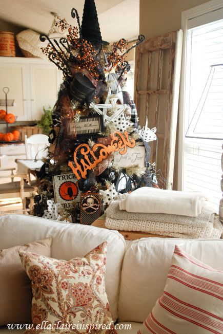 190 best halloween trees and ornaments images on pinterest - Where can i buy halloween decorations ...