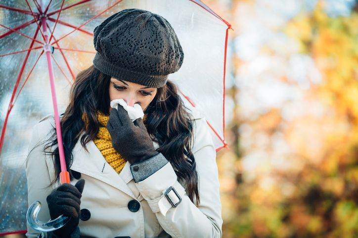 """Confusingly, colds and flu share many of the same symptoms and your cough, sore throat and blocked nose could be a sign of either.  According to Dr Webberley, flu symptoms always tend to be """"more prolonged"""", and muscle aches are a tell-tale sign that you've come down with more than a common cold."""