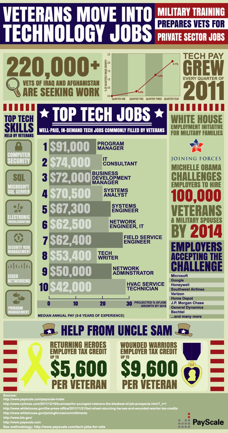 Great Veterans Move Into Technology Jobs