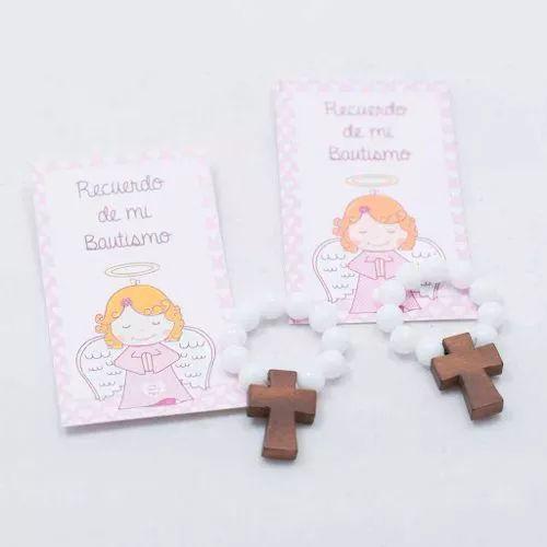 Souvenir Salve Regina Denario Nena Bautismo Con Estampa - $ 35,00