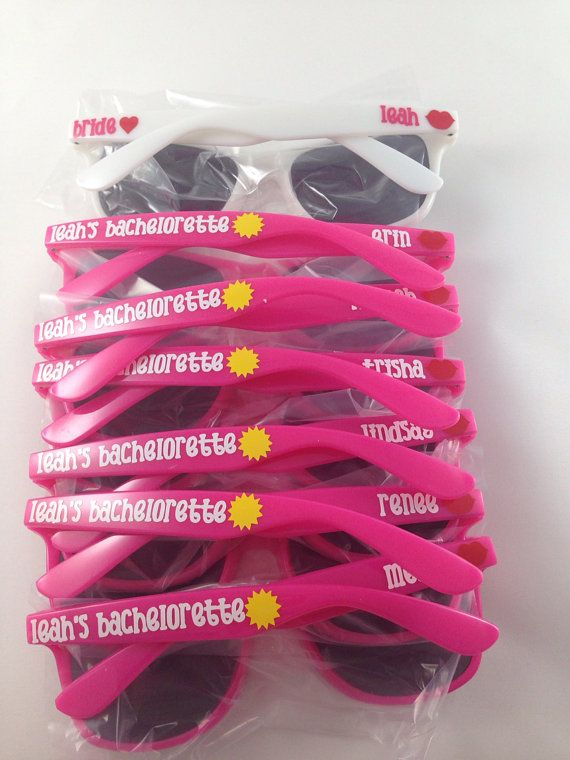 Personalized Wayfarer Sunglasses: Beach, Favor, Bachelorette Party, Bachelor Party, Spring Break gift