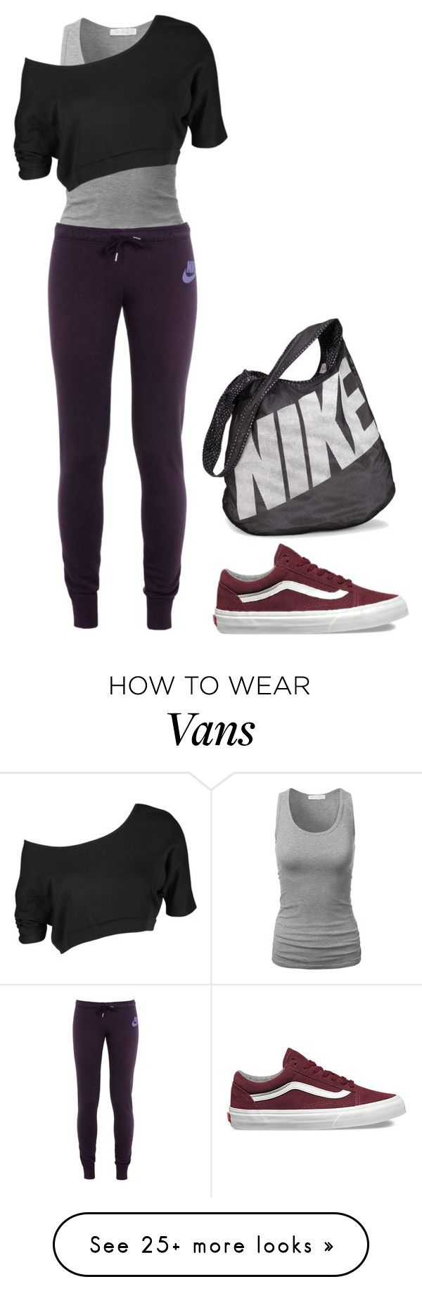 """""""Dance class"""" by charlotteh2001 on Polyvore featuring NIKE and Vans"""
