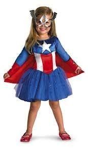 disfraz capitan america para niña