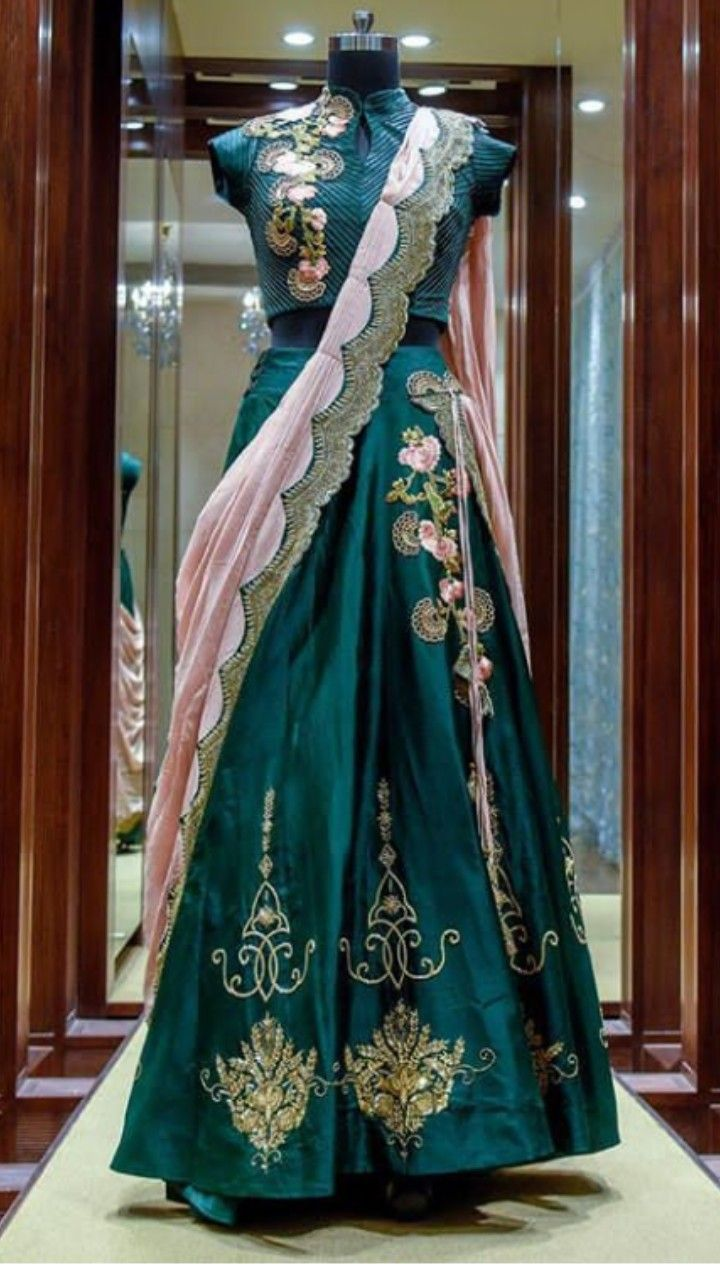 c2a8b9a4b92b Beautiful Silk Lehenga-Choli. Embellished with hand embroidery and dupatta.  Beautifully implemented of hand work and great placement.