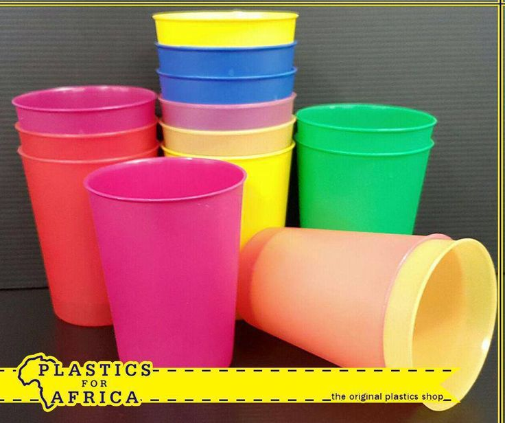 At #PlasticsforAfrica you are always saving! Get these assorted tumblers for only R1.00 each. T's & C's apply, E&OE