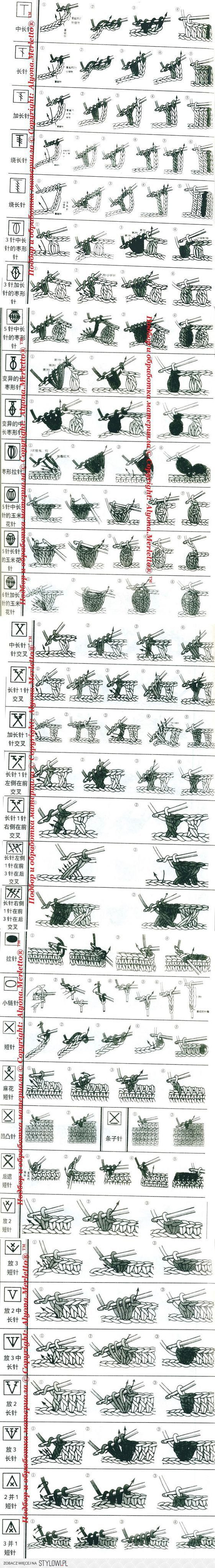Вязание-крючок >Расшифровка китайских схем ...   рукоде…