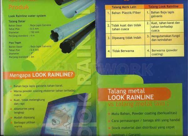 """TALANG METAL 081284559855,,087770337444 TALANG METAL """"exclusive"""" CV HARDA UTAMA Talang Metal (Water Gutter) Metal baja Untuk urusan Talang, Talang Metal yang satu ini puas pakai nya. Di banding kan dengan talang PVC, Talang Metal jauh lebih awet dan tahan lama. Aksesoris komplit dan pemasangannya mudah. CV.HARDA UTAMA """"melayani penjualan talang metal seluruh Indonesia"""" Jakarta Utara"""