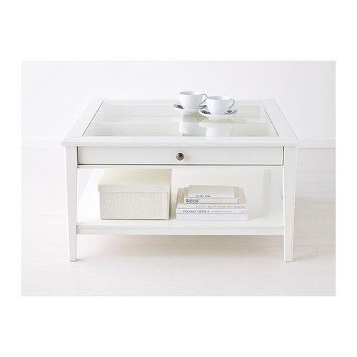 LIATORP Salontafel - wit/glas - IKEA