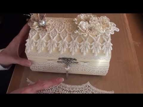 Shabbychic Lace box. (My first DT project for Tresors de Luxe)