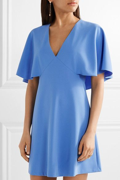Azure crepe Concealed hook and zip fastening at back 100% polyester; lining: 94% polyester, 6% elastane Dry clean Designer color: Cornflower Blue Imported