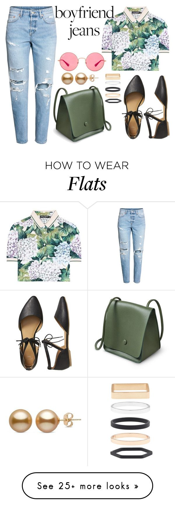 """""""Borrowed from the Boys: Boyfriend Jeans"""" by joslynaurora on Polyvore featuring Dolce&Gabbana, Gap, Ray-Ban, Accessorize and boyfriendjeans"""